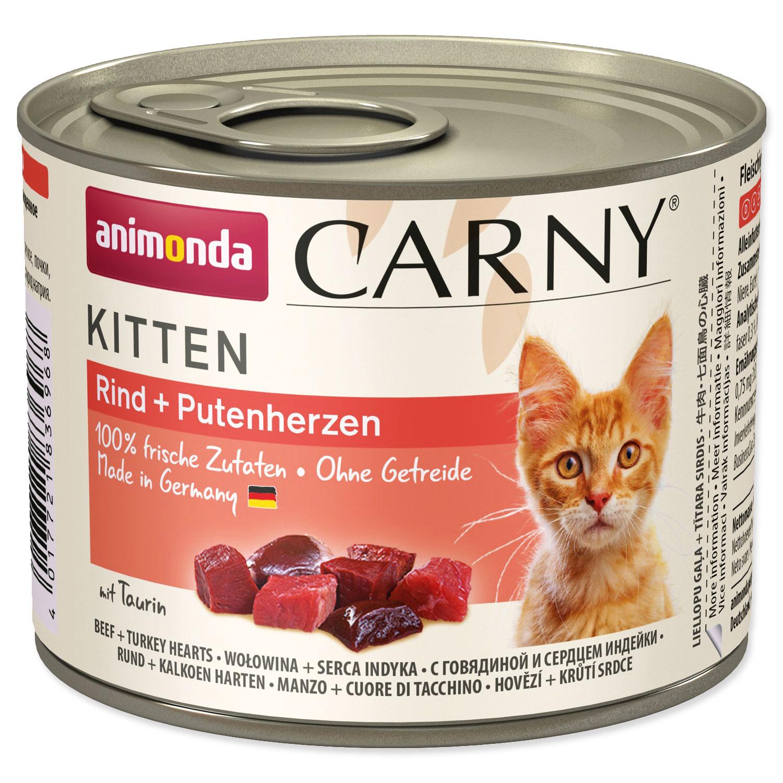 Konzerva ANIMONDA Carny Kitten hovězí + krůtí srdíčka