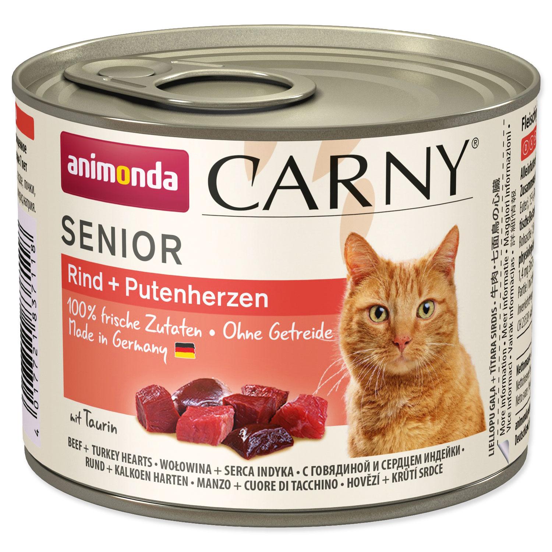 Konzerva ANIMONDA Carny Senior hovězí + krůtí srdíčka