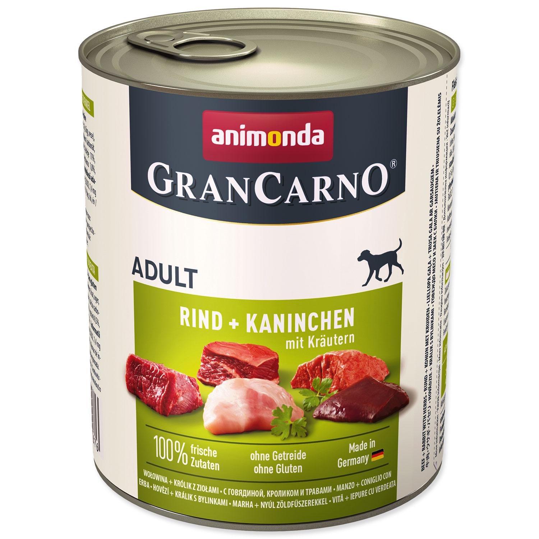 Konzerva ANIMONDA Gran Carno hovězí + králík + bylinky