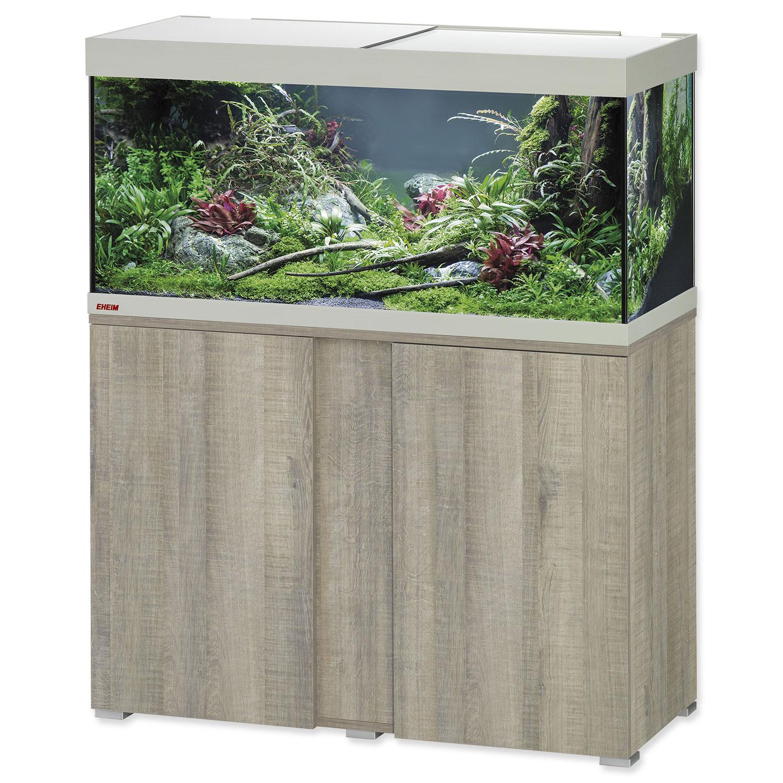 Akvárium set se stolkem EHEIM Vivaline LED dub šedé