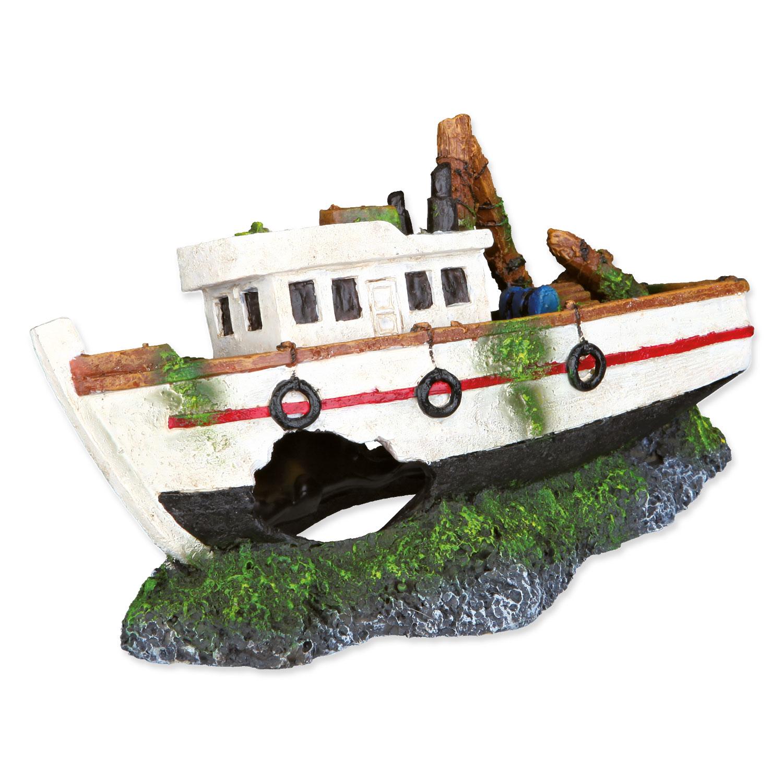 Dekorace TRIXIE rybářská loď 15 cm