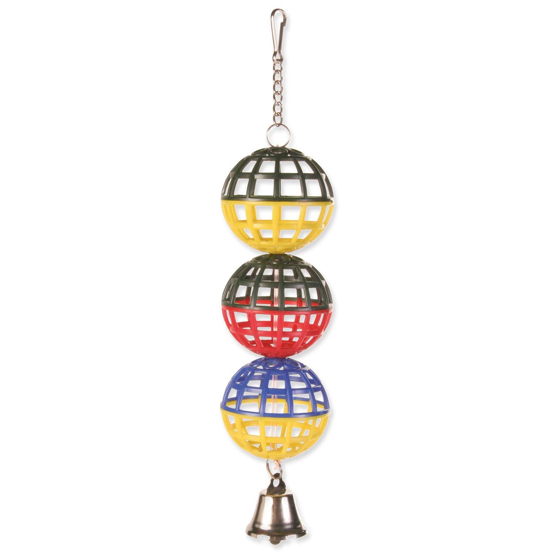 Hračka TRIXIE míčky na řetízku se zvonečkem 16 cm