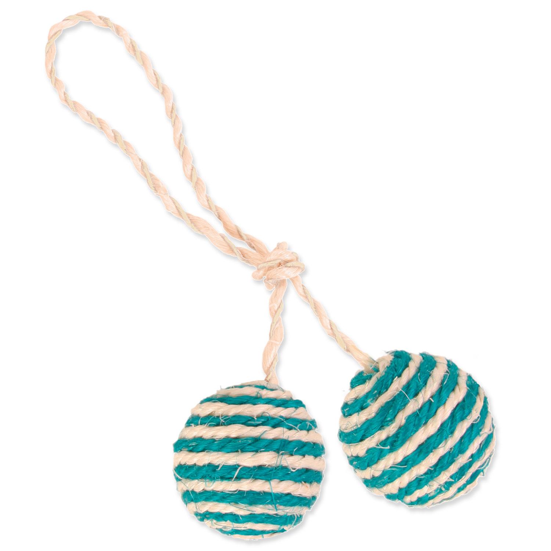 Hračka TRIXIE míčky sisalové na provázku 4,5 cm