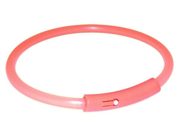 Obojek TRIXIE Flash Light Band oranžový XL