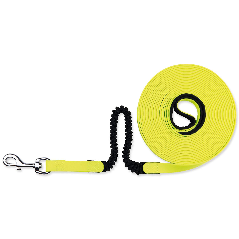 Vodítko TRIXIE Easy Life Tracking Shock Absorber neonově žluté 8 m