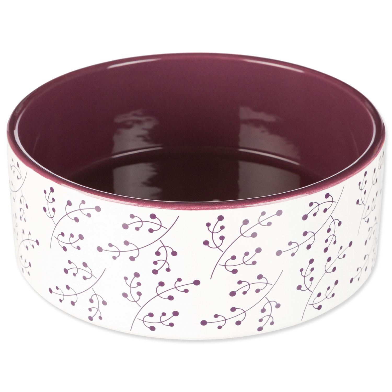 Miska TRIXIE keramická bílo-vínová 20 cm